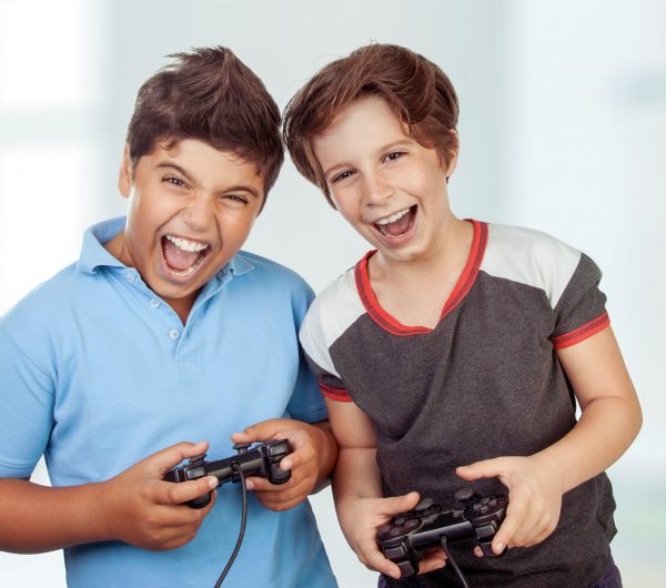 Best,Friends,Playing,At,Home,,Crazy,Emotion,Of,Video,Games,
